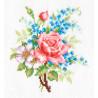 Роза и незабудки Набор для вышивания Многоцветница МКН 04-14