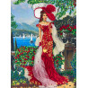 Дама в красном Набор для вышивания лентами Многоцветница МЛ(Н)-3002