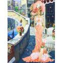 Дама в Венеции Набор для вышивания лентами Многоцветница МЛ(Н)-3003