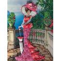 Дама в розовом Набор для вышивания лентами Многоцветница МЛ(Н)-3005