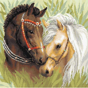 "АМ0039 ""Пара лошадей"" мозаика АМ0039"