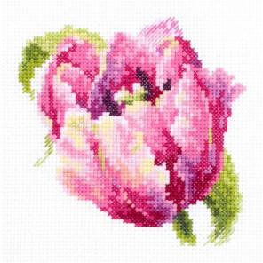 Розовый тюльпан Набор для вышивания Чудесная игла 150-013