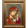 Вариант оформления в рамке Икона Казанской Божией Матери Набор для вышивания бисером Вышиваем бисером L-157
