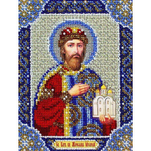 Святой Ярослав Набор для вышивания бисером Паутинка Б-732