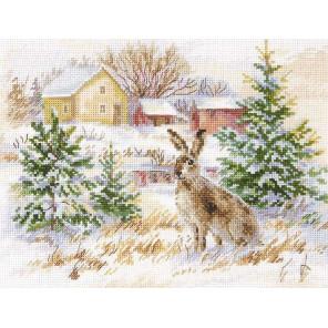 Зимний день. Заяц-русак Набор для вышивания Алиса 1-31