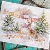 Вариант готовой работы Зимний день. Заяц-русак Набор для вышивания Алиса 1-31