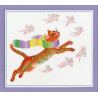Вариант оформления в рамке Охота на розовых мышей Набор для вышивания Золотое руно ВК-055