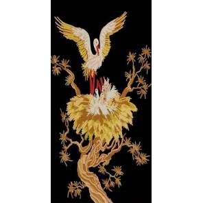 Золотые аисты Ткань с нанесенным рисунком Конек 8519