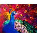 Хвост павлина Раскраска картина по номерам на холсте GX40510