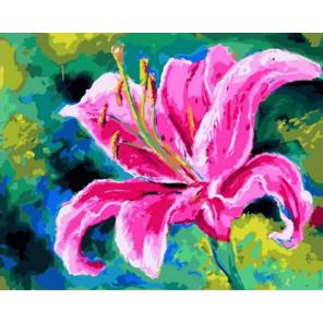 Яркий цветок Раскраска картина по номерам на холсте GX40512