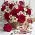 Розы и ромашки Раскраска картина по номерам на холсте PK11604
