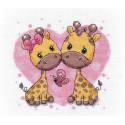 Влюбленные жирафики Набор для вышивания Овен 1275