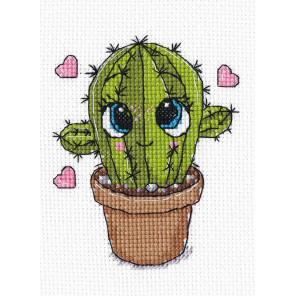 Маленький кактус Набор для вышивания Овен 1277