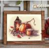 Вариант оформления в рамке Осенний натюрморт Набор для вышивания Овен 1307