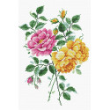 Нежность роз Канва с рисунком МП Студия СК-095