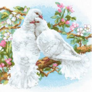 Белые голуби Набор для вышивания Риолис 1856