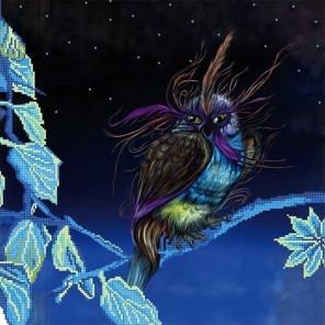 В сказке Ткань с рисунком для вышивки бисером Божья коровка 0133