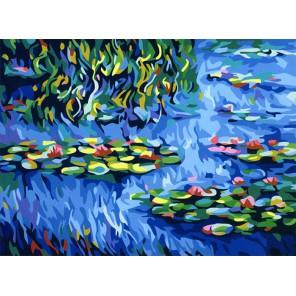 Водяная лилия Раскраска (картина) по номерам на холсте Menglei