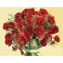 Красные маки ( художник Чачева Татьяна ) Раскраска (картина) по номерам акриловыми красками на холсте Menglei