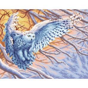 "МС-072 ""Полярная сова"" Алмазная вышивка мозаика BrilliArt МС-072"