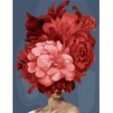 Девушка-цветок. Безудержная страсть Картина по номерам на холсте GX37798