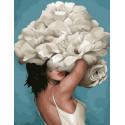 Девушка-цветок. Нежность Картина по номерам на холсте GX37794