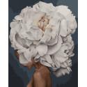 Девушка-цветок. Чистота Картина по номерам на холсте GX33738