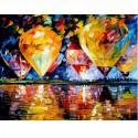 Воздухоплавание ( художник Леонид Афремов ) Раскраска (картина) по номерам акриловыми красками на холсте Menglei