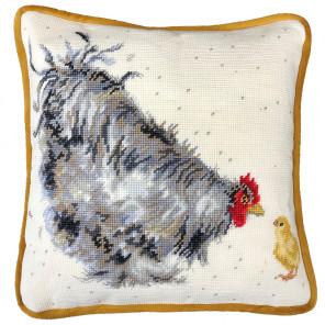 Мама курочка Набор для вышивания подушки Bothy Threads THD50