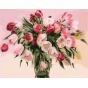 Тюльпаны ( художник Чачева Татьяна ) Раскраска (картина) по номерам акриловыми красками на холсте Menglei