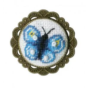 Брошь Бабочка Набор для вышивания Золотое руно СШ-018