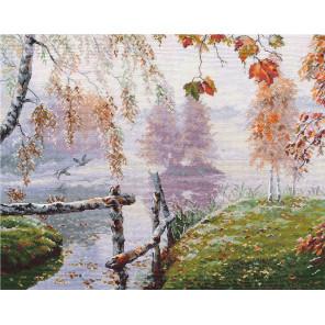 Уж небо осенью дышало Набор для вышивания Овен 1281