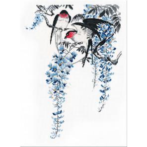 На ветвях глицинии Набор для вышивания Овен 1283
