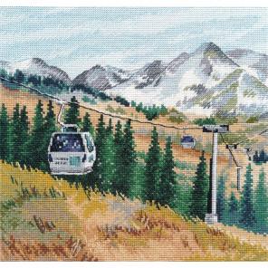 Гора Чимбулак Набор для вышивания Овен 1284