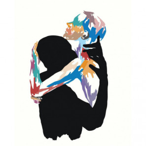 Любовь Объятия Абстракция Раскраска картина по номерам на холсте