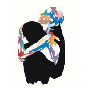 Любовь Объятия Абстракция 80х100 Раскраска картина по номерам на холсте