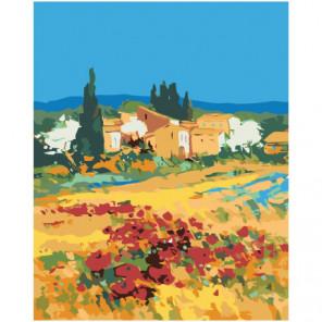 Пейзаж Тоскана импрессионизм 100х125 Раскраска картина по номерам на холсте