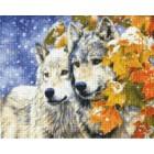 Первый снег Алмазная вышивка (мозаика) Sddi Anya