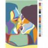 Красочный поцелуй 100х150 Раскраска картина по номерам на холсте