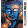 Красочный будда 80х100 Раскраска картина по номерам на холсте