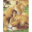 Мамы и их зверята Канва с рисунком для вышивки бисером Каролинка ТКБЖ 4040