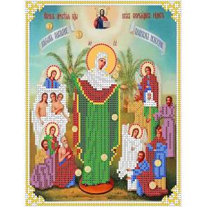 Всех скорбящих радость Канва с рисунком для вышивки бисером Каролинка ТКБИ 4106