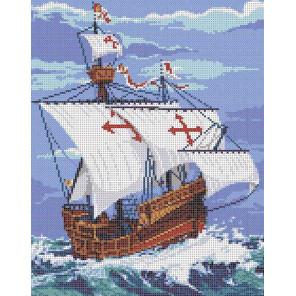 Санта Мария Канва с рисунком для вышивки бисером Каролинка ТКБП 3057