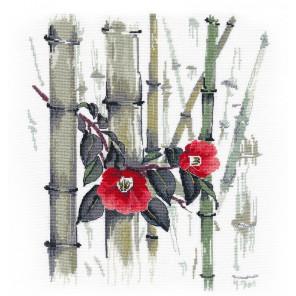 Камелии в бамбуковой роще Набор для вышивания Овен 1268