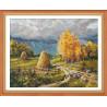 Осенняя гроза Набор для вышивания Овен 1273