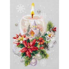 Рождественская свеча Набор для вышивания Чудесная игла 100-231