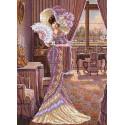 Дама с кофе Набор для вышивки бисером Каролинка КБЛН(Ч) 3013 1