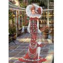 Дама в красном Набор для вышивки бисером Каролинка КБЛН(Ч) 3043 1
