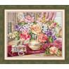 Вариант оформления в рамке Розы в гостиной Набор для вышивания Алиса 2-50