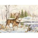 У лесного озера Набор для вышивания Алиса 3-28